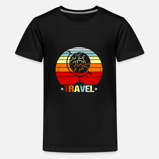 Gift Idea T-Shirts - Travel Goals Traveler Gift Idea - Kids' Premium T-Shirt black