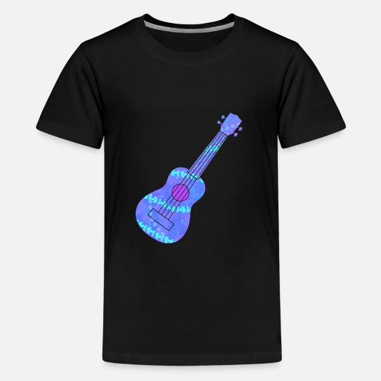 Ukulele T-Shirts - Ukulele Blue Hawaii Luau - Kids' Premium T-Shirt black