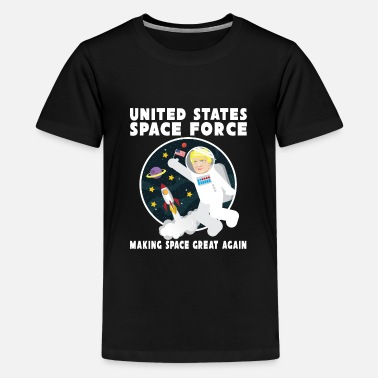 United united states space force funny trump comic gift - Kids' Premium T-Shirt