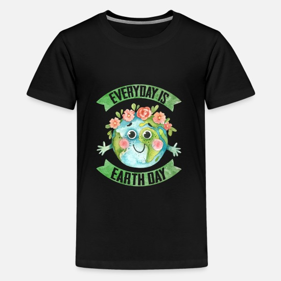 Earth Day T-Shirts - Earth Day Every Day - Kids' Premium T-Shirt black
