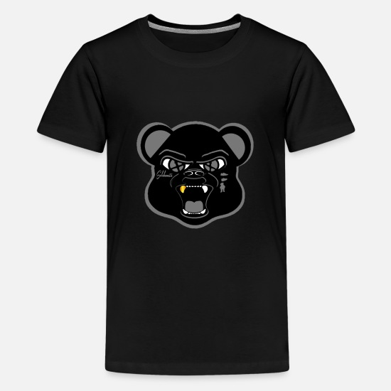 "Sneakers T-Shirts - Solehouette ""Shadow"" Bear - Kids' Premium T-Shirt black"