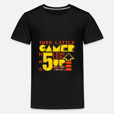 Color Change This Little Gamer has 5 leveled up gift shirt - Kids' Premium T-Shirt