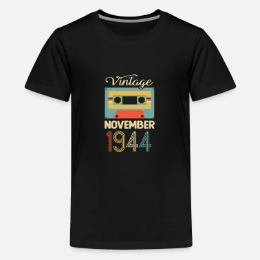 Tape Vintage November 1944 75th Birthday 75 Year Gift - Kids' Premium T-Shirt