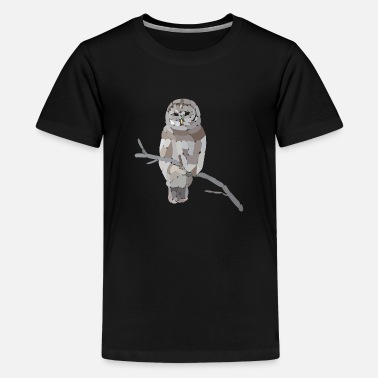 Polygon owl rounded - Kids' Premium T-Shirt