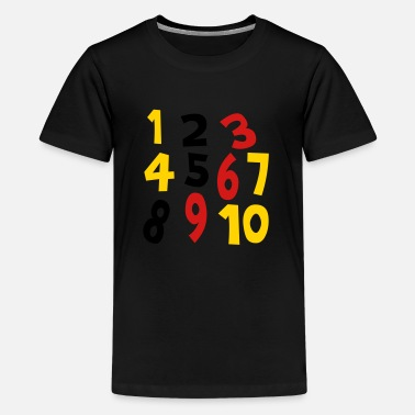 Background Numbers 1 - 10 Without Background - Kids' Premium T-Shirt