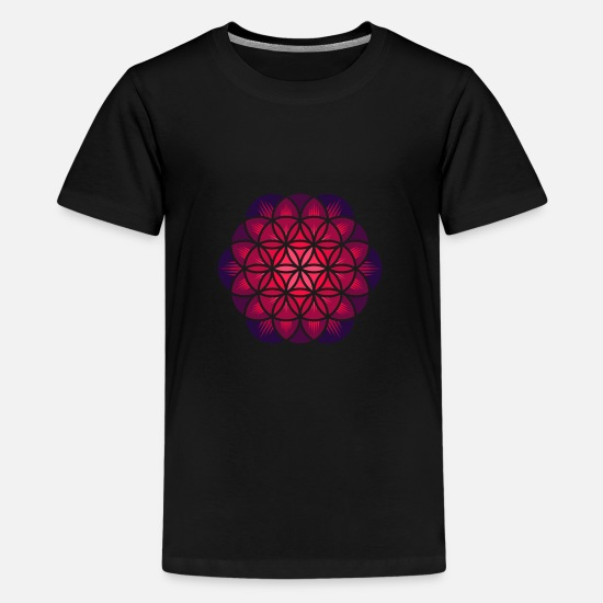 Magic T-Shirts - Purple Flower of Life - Kids' Premium T-Shirt black