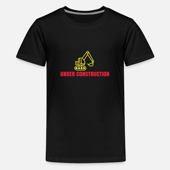 Art T-Shirts - UNDER CONSTRUCTION - Kids' Premium T-Shirt black