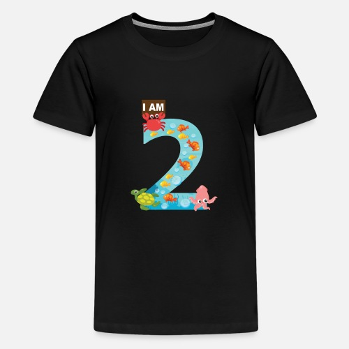 Ocean Theme Second 2nd Birthday Shirt Kids Premium T Shirt