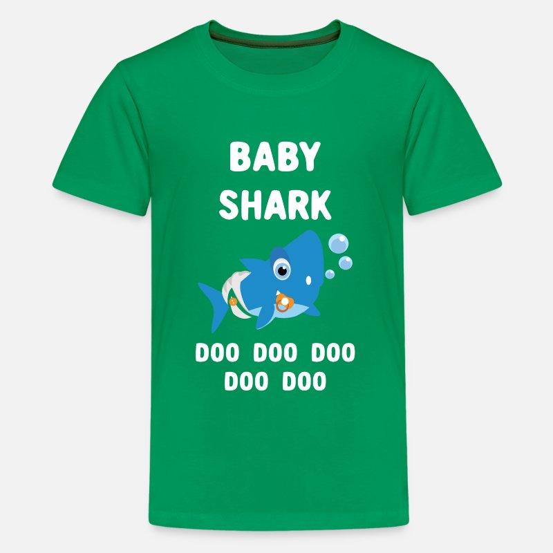 4cb97231f Baby Shark Doo Doo Doo - Matching Family Shark Kids' Premium T-Shirt |  Spreadshirt