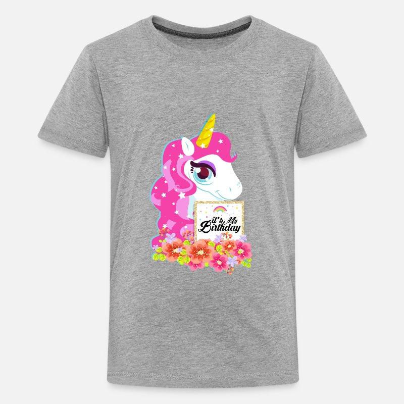 Unicorn Birthday Shirt Its My Kids Premium T