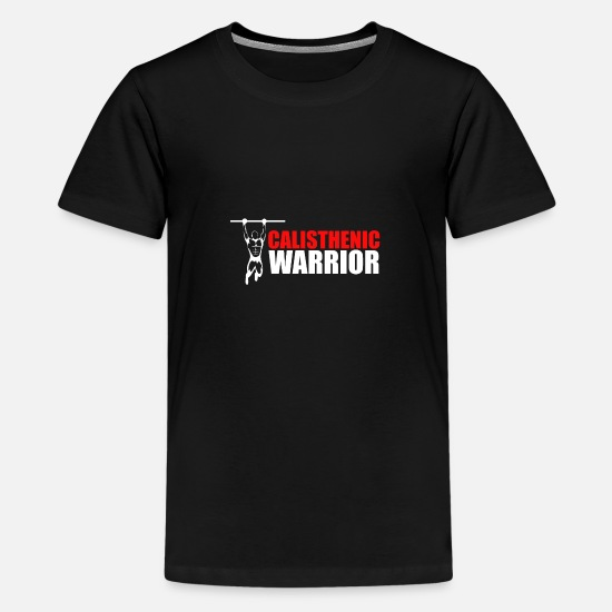 Body Builder T-Shirts - Calisthenics Warrior Fitness Gift Idea - Kids' Premium T-Shirt black