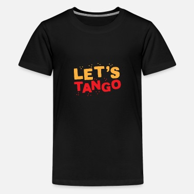 Ballroom Dancing Lets tango in orange and red - Kids' Premium T-Shirt