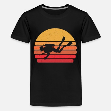 Deep Sea Diver Retro Diving Diver Gift I Scuba Dive - Kids' Premium T-Shirt