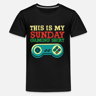 Chill Lazy Video Gaming Sunday Gift I Funny Sundays - Kids' Premium T-Shirt