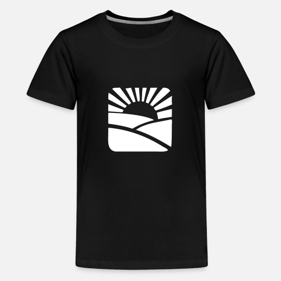 Gift Idea T-Shirts - Minimalistic Sunset - Kids' Premium T-Shirt black