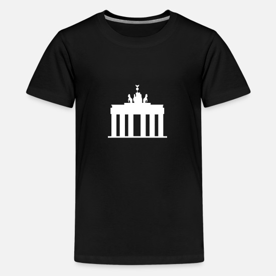Statue T-Shirts - Brandenburg Gate - Kids' Premium T-Shirt black
