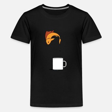 Fish Coffee Cup - Kids' Premium T-Shirt