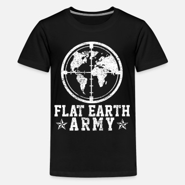 Flat Rate Flat Earth Vintage Cosmos Intellectual Conspiracy - Kids' Premium T-Shirt