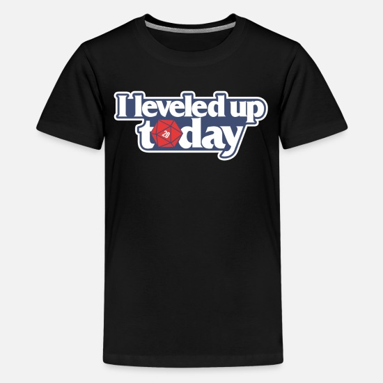 Today T-Shirts - D20 I Leveled Up Today - Kids' Premium T-Shirt black