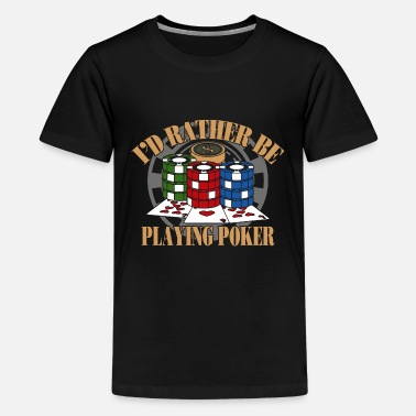 Poker Gift Cards Game Full House As King - Kids' Premium T-Shirt