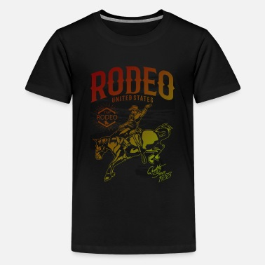 Rodeo Extreme Rodeo Gradient Graphic Design - Kids' Premium T-Shirt