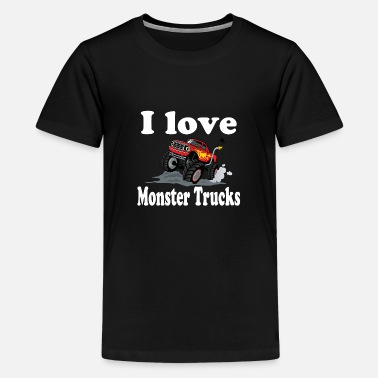 Monster i love monster trucks - Kids' Premium T-Shirt
