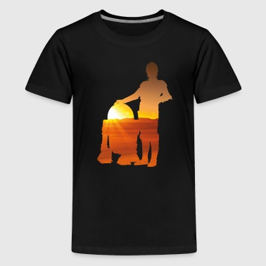Two Friends r2d2 c3po - Kids' Premium T-Shirt