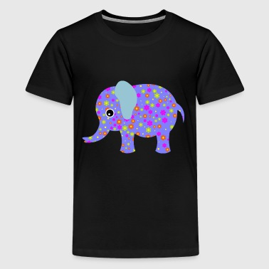 purple elephant - Kids' Premium T-Shirt