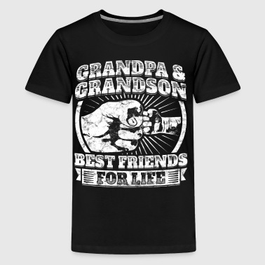 Grandpa Grandson Friend Grandparent Kids Child Tee - Kids' Premium T-Shirt