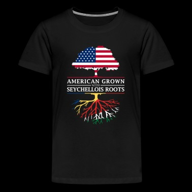American Grown with Seychellois Roots Seychelles Design - Kids' Premium T-Shirt