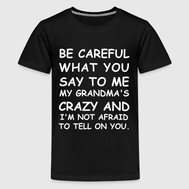Be Careful What You Say To Me - Kids' Premium T-Shirt