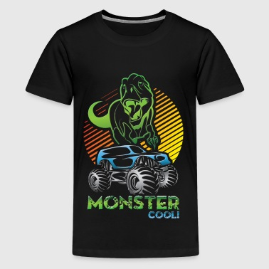 Monster Truck Dinosaur - Kids' Premium T-Shirt