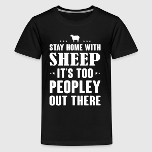 Stay home with Sheep - Kids' Premium T-Shirt