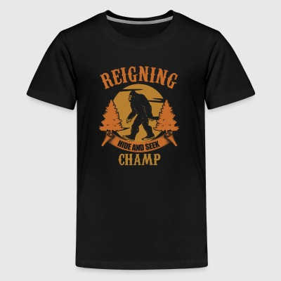 Big Foot Hide and Seek Champ - Kids' Premium T-Shirt