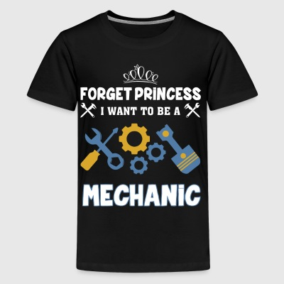 Forget princess I want to be a Mechanic - Kids' Premium T-Shirt