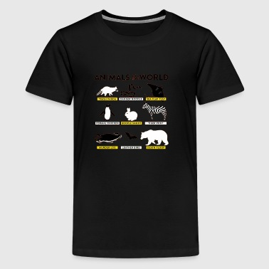 Animals of the world - Kids' Premium T-Shirt