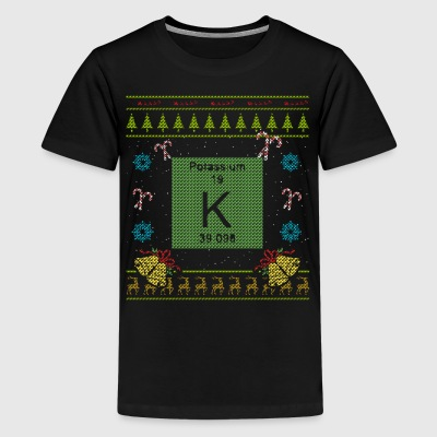 Periodic Table Christmas Ugly Sweater Design Shirt - Kids' Premium T-Shirt