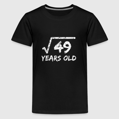 Square Root of 49: 7th Birthday 7 Years Old - Kids' Premium T-Shirt