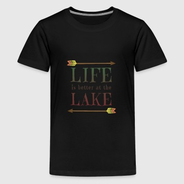 Life Is Better At The Lake - Camping Camp Fun - Kids' Premium T-Shirt