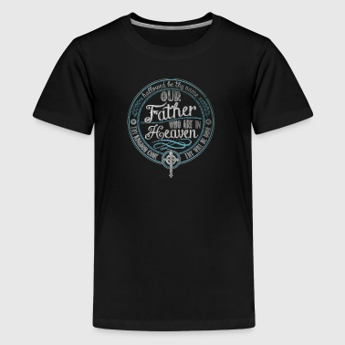 Our Father Prayer Jesus - Kids' Premium T-Shirt