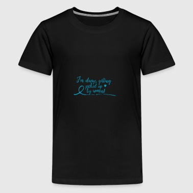 picked up by women - blue - Kids' Premium T-Shirt