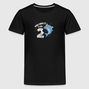 Kids Birthday Boy & Girl Shark Kids 2 Year - Kids' Premium T-Shirt