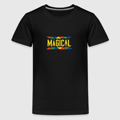 Magical Tribal Design (Yellow Letters) - Kids' Premium T-Shirt