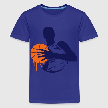 basketball player with a basketball - Kids' Premium T-Shirt