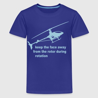 helicopter rotor warning - Kids' Premium T-Shirt