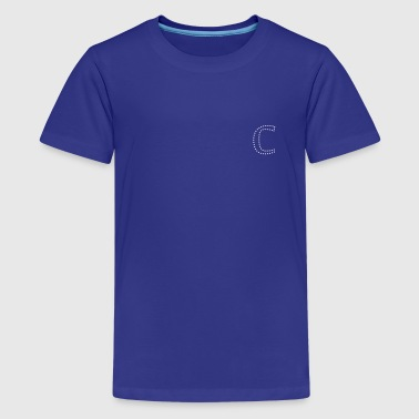 dotty letter C (1c) - Kids' Premium T-Shirt