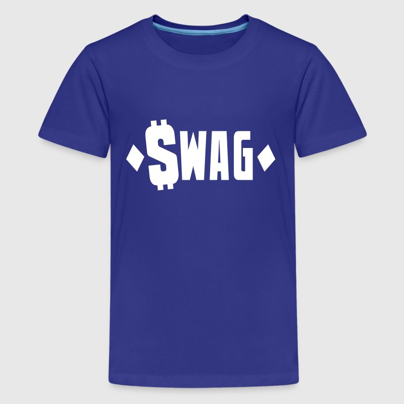 swag $WAG with dollars and diamonds - Kids' Premium T-Shirt