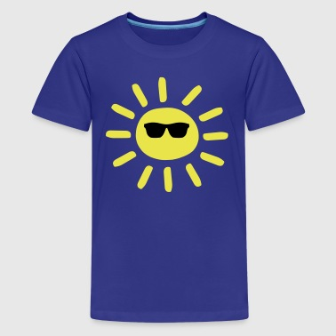 Sun Wearing Shades - Kids' Premium T-Shirt