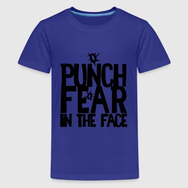 PUNCH FEAR IN THE FACE sport rivalry bullet holes - Kids' Premium T-Shirt