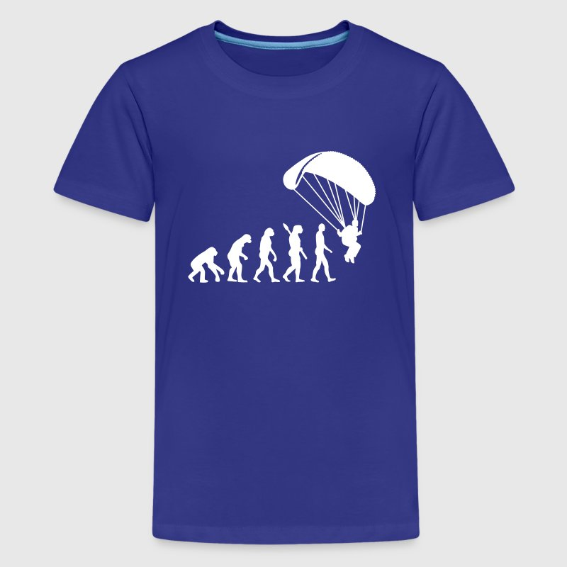 Evolution Parachute jumping - Kids' Premium T-Shirt